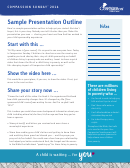 Sample Presentation Outline Template