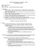 Sample Student Informative Speech Outline Template