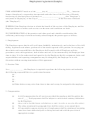 Employment Agreement Template (sample)