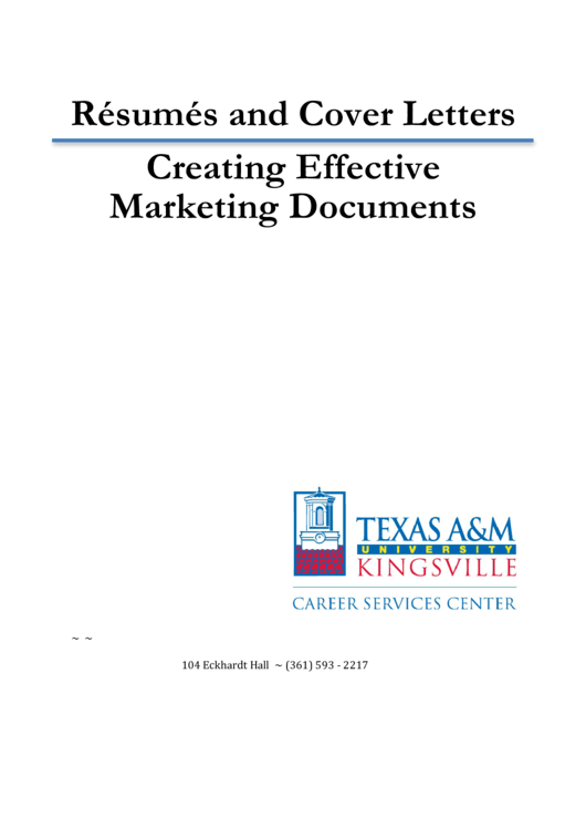 Sample Resumes And Cover Letters Printable pdf