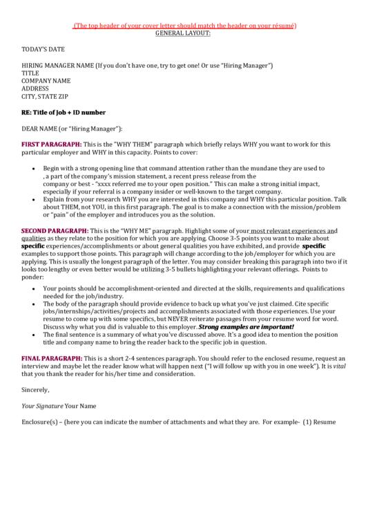 Resume General Layout Printable pdf