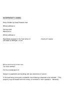 State Of Michigan Warranty Deed Template