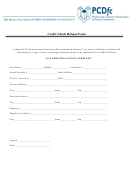 Credit Check Release Form