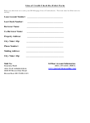 Line Of Credit Check Re-order Form