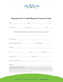 Request For Credit Report/consent Form