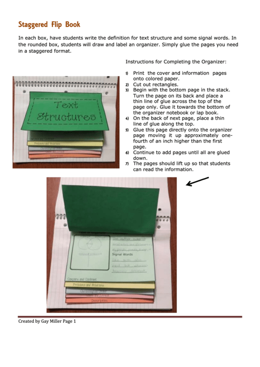 Flip Book Template Printable pdf