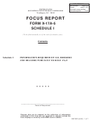 Form X-17a-5 - Schedule I - Focus Report