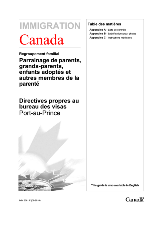Canada Visa Application Form Printable pdf