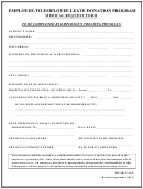 Employee-to-employee Leave Donation Program Medical Request Form