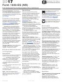 Form 1040-es (nr) - U.s. Estimated Tax For Nonresident Alien Individuals - 2017