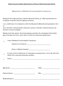 Statement Of Workers Compensation Insurance Form
