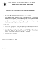 Instructions For Filing A Vehicle Value Commission Appeal Form