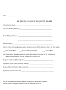 Address Change Request Form - Town Of Great Barrington
