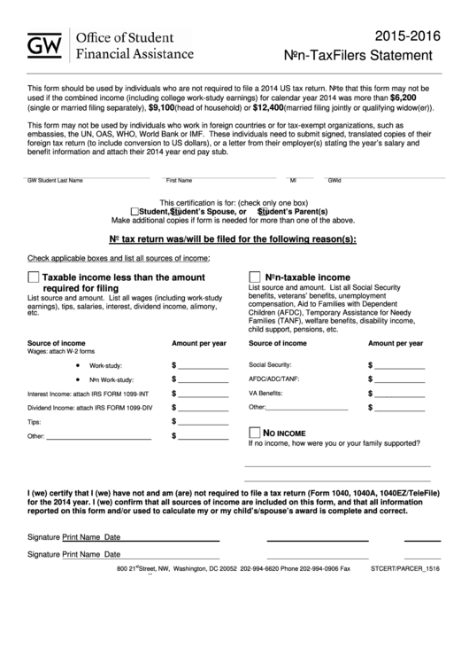 Non Tax Filing Form Irs Form 4506 T Verification Of Nonfiling ...