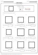 Side Length Worksheet