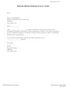 Sample Media Release Letters