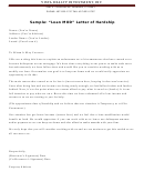 Sample Loan Mod Letter Of Hardship Template