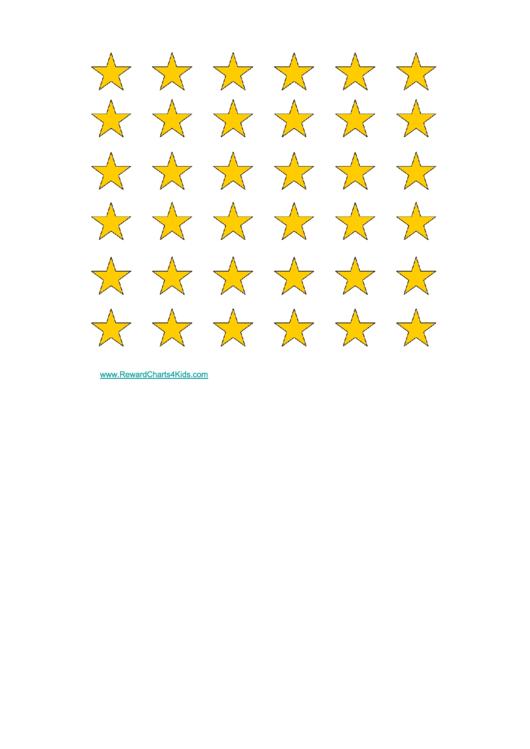 Gold Stars Reward Chart