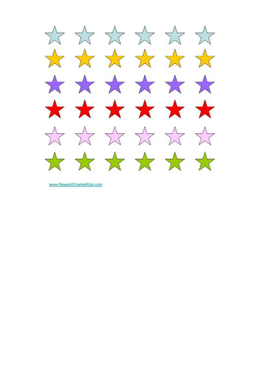 Colored Stars Reward Chart