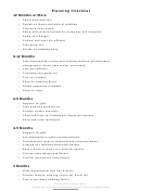 Planning Checklist For A Wedding