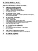 Wedding Checklist Three Month
