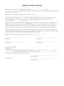 Affidavit Continuous Marriage Form - Florida