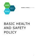 Basic Health And Safety Policy