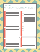 Daily Planner Template (fillable)