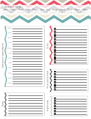 Daily Planner Template - Zig-zag Background