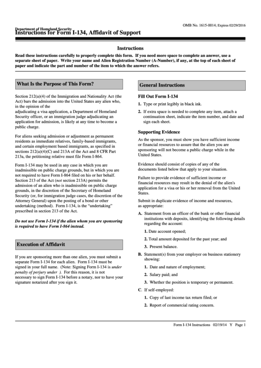 Top 8 Uscis Form I 134 Templates Free To Download In Pdf Format