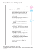 Sample Outline In An Mla Paper