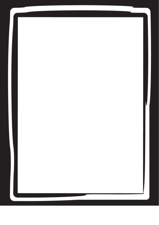 Informal Black And White Border Printable pdf