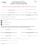 Affidavit Of Mileage Correction