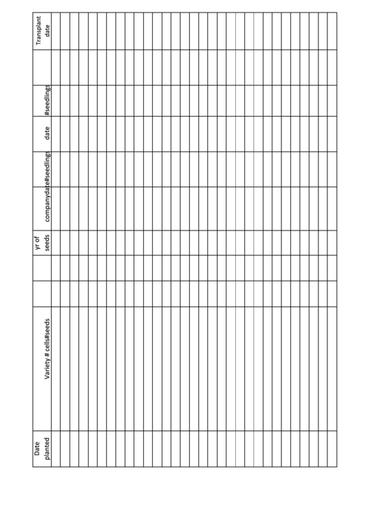 Top 6 Plant Growth Charts free to download in PDF format