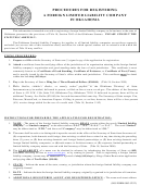 Application For Registration Form (foreign Limited Liability Company) - Oklahoma Secretary Of State
