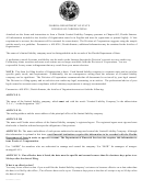 Articles Of Organization For Florida Limited Liability Company