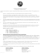 Application By Foreign Limited Liability Company For Authorization To Transact Business In Florida