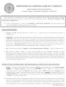 Procedures For Organizing An Oklahoma Limited Liability Company - Oklahoma Secretary Of State