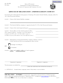 Articles Of Organization - Limited Liability Company