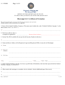 Mississippi Llc Certificate Of Formation