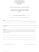 Articles Of Organization