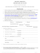 Registration Statement For A Charitable Organization - South Carolina Secretary Of State