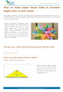 How To Make Paper Flower Balls