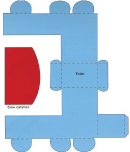 Foldable Paper Train Template