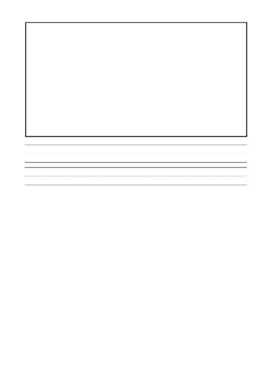 Handwriting Paper - Large Lines (landscape)