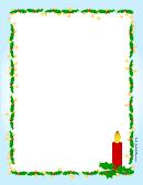 Christmas Paper Border Template