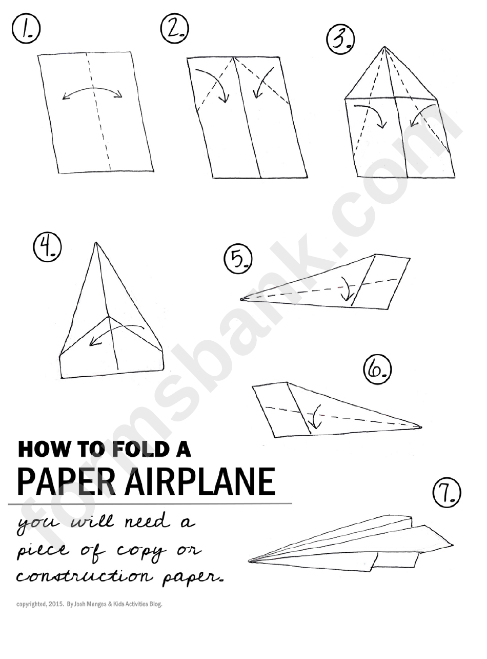 paper airplane folding instructions printable pdf download