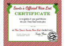 Santas Official Nice List Certificate Template