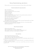 Story Brainstorming Questions
