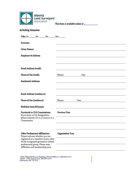 Resume Templates Printable pdf